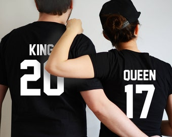 King and Queen shirts king and queen couple tshirt couples shirts funny couples shirts wedding gift anniversary gift king and queen tshirts