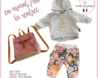 Baby set and backpack