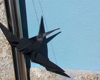 Origami Swallow - Black