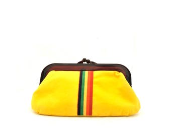 Vintage 1960s Yellow Clutch Bag