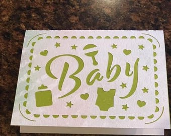 Handcrafted Baby Shower/Gift greeting card