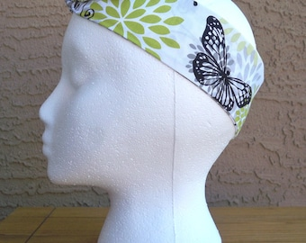 Lime and Black Butterfly Dream Hair Tie