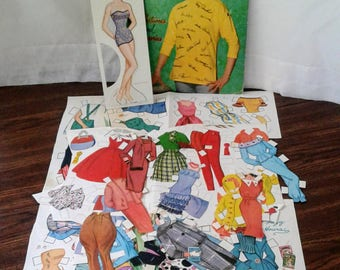 Dorothy Provine Cut-Outs Paper Dolls Whitman 1962 Warner Bros. Publishing
