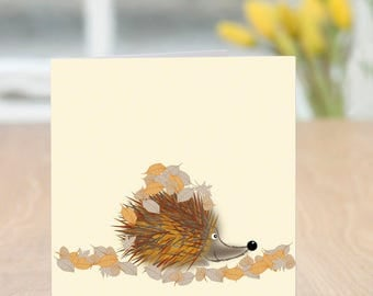 Inhognito - Cute and Quirky Hedgehog Card (Blank Inside)