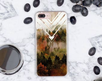 iPhone 8 Case Nature iPhone 8 Plus Case Forest Phone Case iPhone X Case Transparent iPhone 7 Case Samsung Galaxy S8 Case iPhone 6 6S cn1059