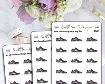 Fitness Sneaker Sticker, Jogging Planner Sticker, Exercise Sticker, Tennis Shoes Sticker, Scrapbook Sticker, Planner Stationary Accessory