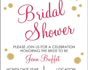 Floral Bridal Shower Invitation 5x7