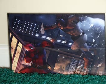 Batman VS Deadpool HD Art Print