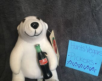 1993 Coca- Cola Polar Bear Plush Doll