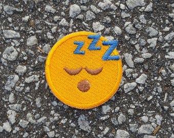 Sleeping Face Emoji Embroidered Sew On Iron On Patch DIY Emojis