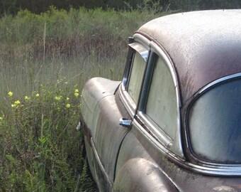 Forgotten Car in the Morning