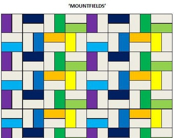 PDF Lap Quilt PATTERN....Quick and Easy...Layer Cake friendly...'Mountfields' ... Instant download