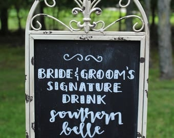 Rustic Chalkboard Easel Sign