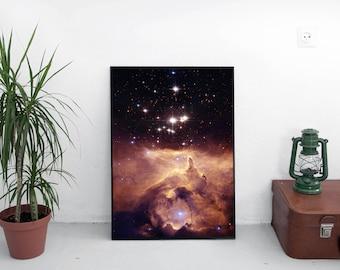 Space poster / Scorpius constellation / Space art / Space print / Outer space / Galaxy print art / Space wall decor / Astronomy print /
