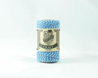 Blue & White No.5 Cotton Craft Twine/String 125g Approx 65m