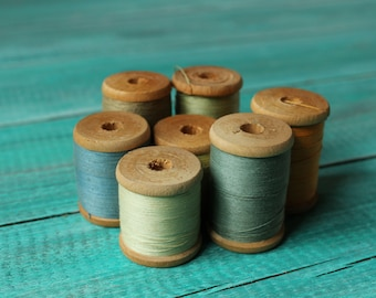 Seamstress gift for mom Christmas gift for grandma Soviet threads spools Soviet vintage threads Cotton threads Sewing threads USSR threads