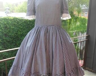 60's Gingham Dress