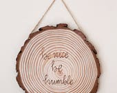 Wooden Wall Hanging - Large