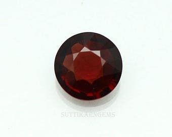 2.34 Cts Natural Red Garnet Round Cut 8.6 mm Loose Gemstone