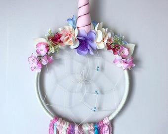 Unicorn, Dreamcatcher, Unicorn Dreamcatcher, little girls room unicorn decor, unicorn theme, unicorn gift, magical, unicorn birthday
