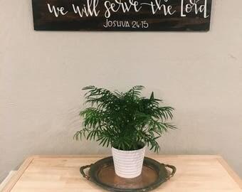 Rectangle Wood Sign Home Decor Bible Verse