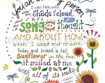 Sunflower Smile print
