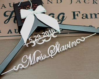 Wedding Hanger | Bridesmaid Dress Hanger | Bridal Hanger | Dress Hanger Wire | Personalized Custom Wedding Hanger | Personalized Hanger