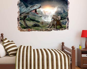 D Wall Decals Etsy - 3d dinosaur wall decals