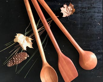 Cooking Spoon Set - Two Spoons and a Stir Paddle
