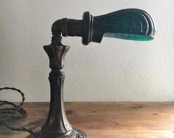 Art Deco Clam Shell Desk Lamp