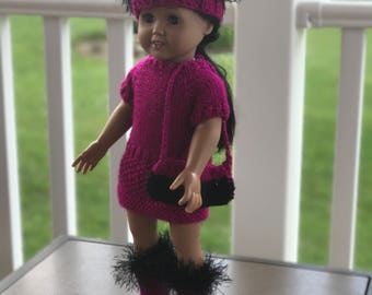 American Girl Party Dress and Accessories