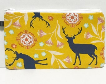 Medium cosmetic pouch, pencil pouch,