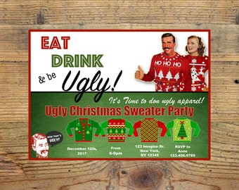 UGLY SWEATER Holiday Invite