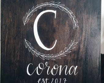 Wooden Family Name Sign | Family Est. Sign | Rustic Family Sign | Wood Welcome Sign | Custom Family Est Sign | Personalized Family Name Sign