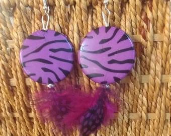 Purple Fiesta earrings