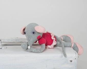Mouse Ballerina - amigurumi, Free shipping worldwide. Made to order