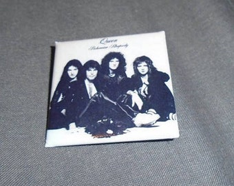 Queen - Bohemian Rhapsody 40mm Glossy Square Badge