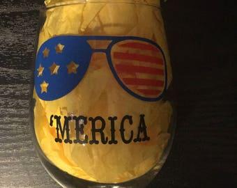 Patriotic Wine Glass