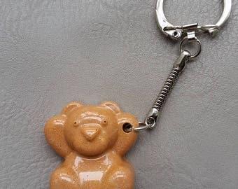Keychain resin bear Chocolate Caramel