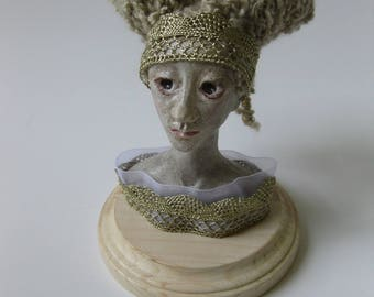 Gunnora, Fine art bust OOAK costumed polymer clay collectible