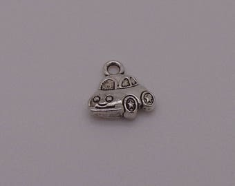 "Charm ""car"" silver metal"