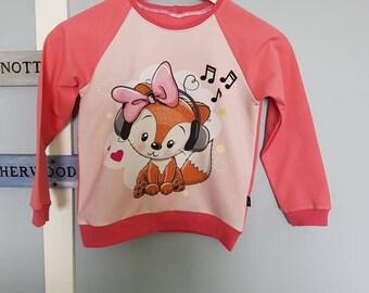 Kids Sweatshirt - model Fox music