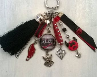 "bag charm or Keyring ""Devil"" theme"