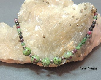 Ruby in Zoisite beads necklace