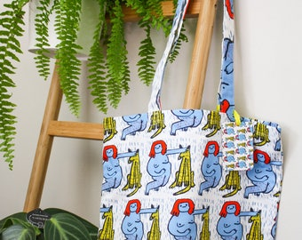 LADY AND DOG Tote Bag