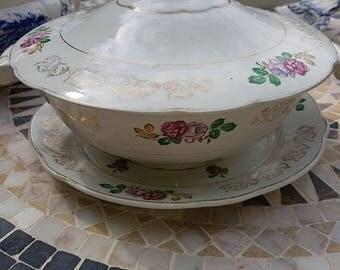 """Luneville K & G """"Roses"""" 1880-1920"""