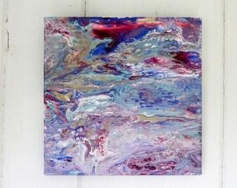 Custom Flow Acrylic Paintings on 8x8 or 10x10 canvas