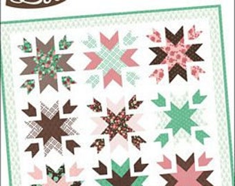 Snow Blossoms quilt pattern from Lella Boutique
