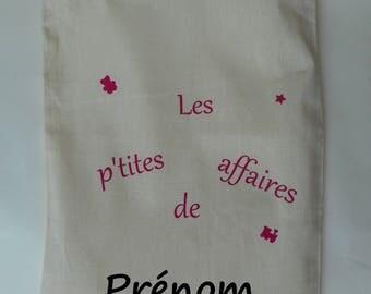 Custom pouch, toy bag, pouch, bag, tucks pyjeama fabric