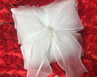 Brand new wedding Ring bearer pillow WHITE